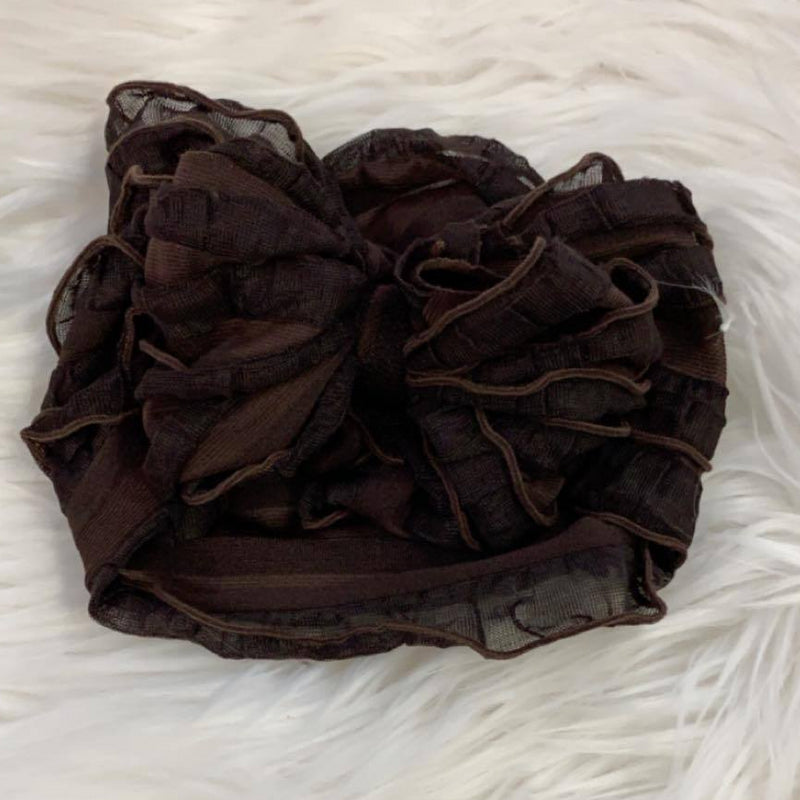 Ruffle Headwrap Brown