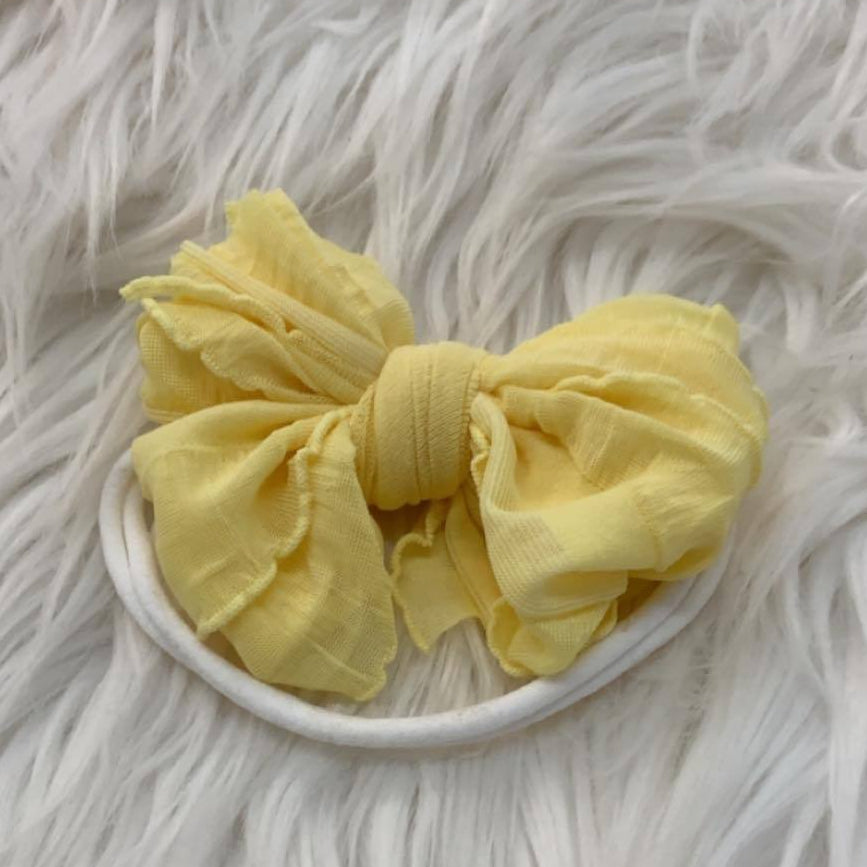 Mini Messy Headband Buttercup