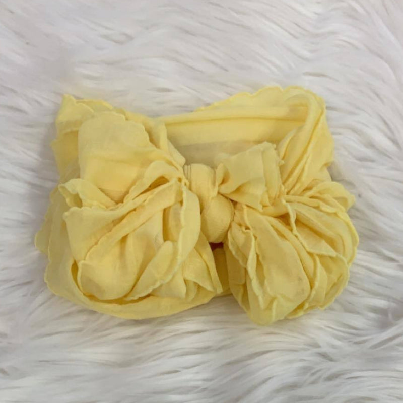 Ruffle Headwrap Buttercup