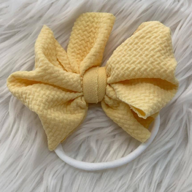 Waffle Knit Mini Headband Butterscotch