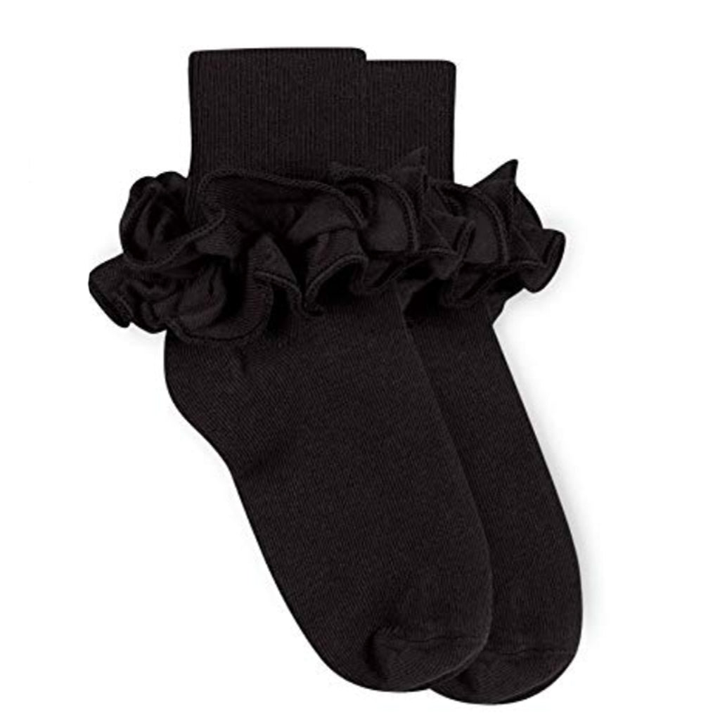 Jefferies Ruffle Sock Black