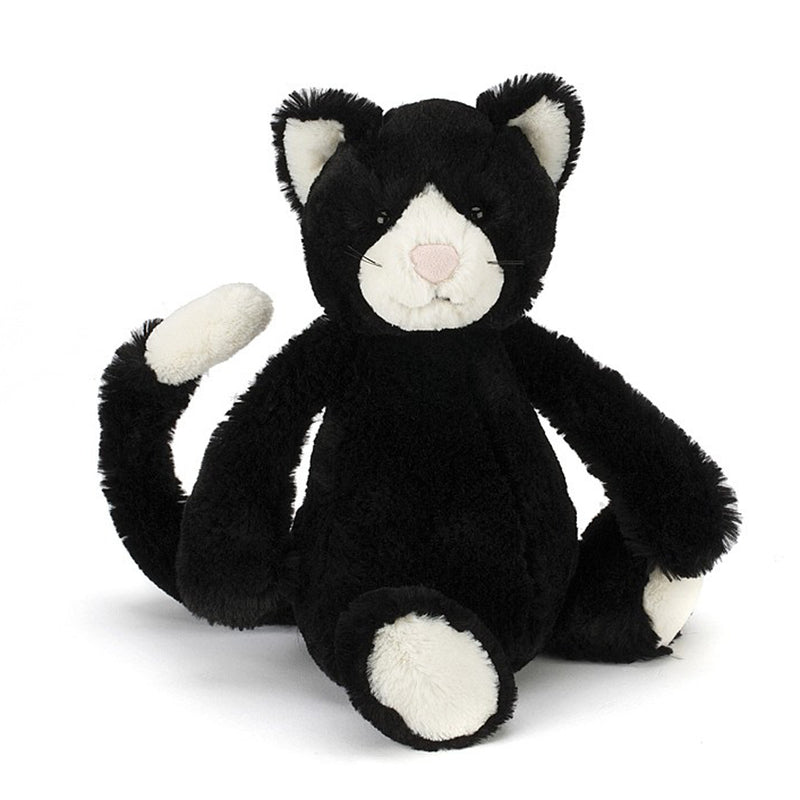 Jellycat Bashful Black& White Cat Small