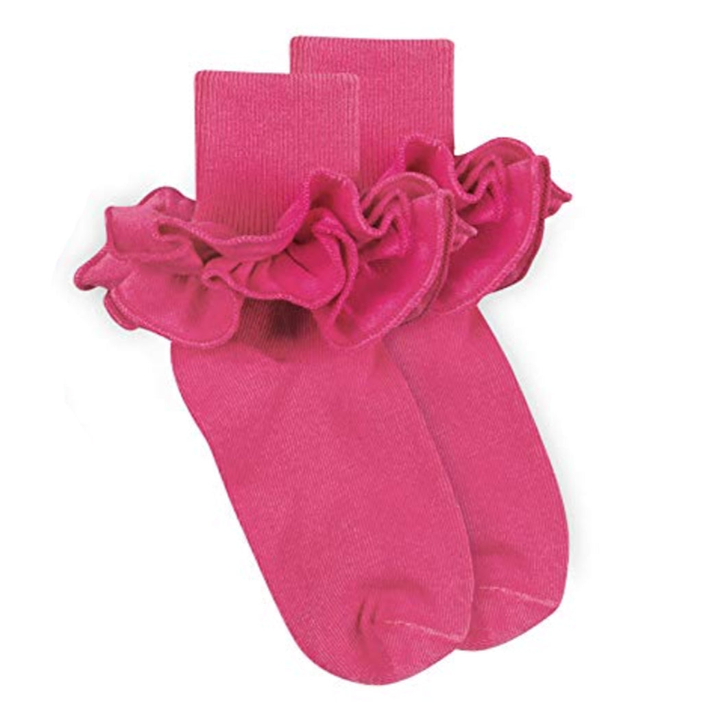 Jefferies Ruffle Sock Bubblegum