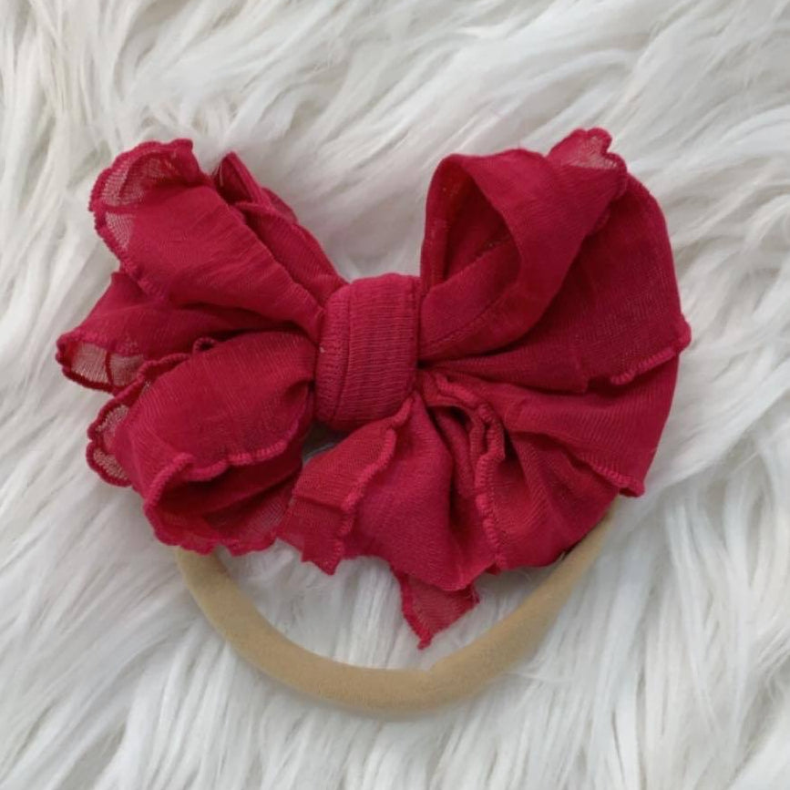 Mini Messy Headband Cranberry