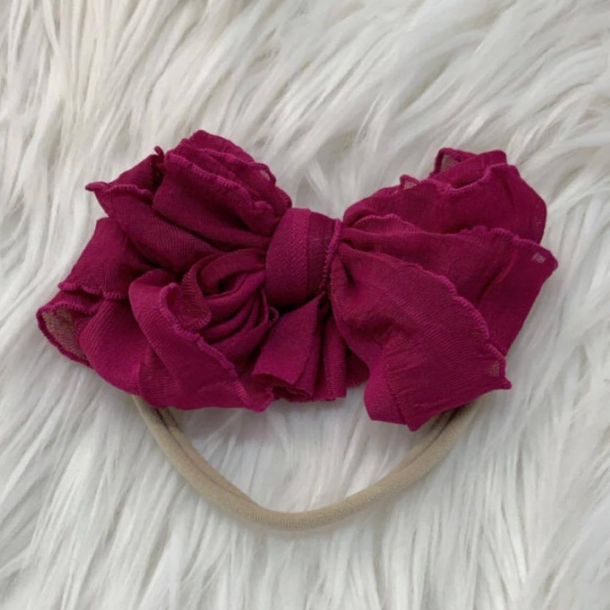 Mini Messy Headband Dark Fuchsia
