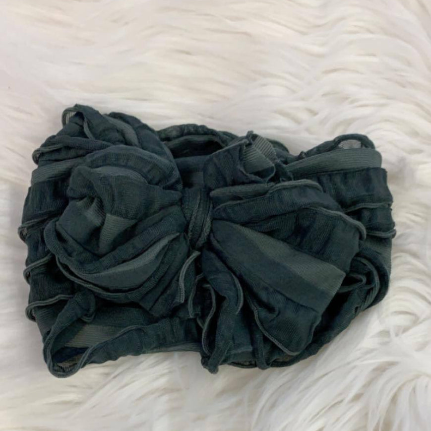 Pre/NB Ruffle Headwrap Dark Grey