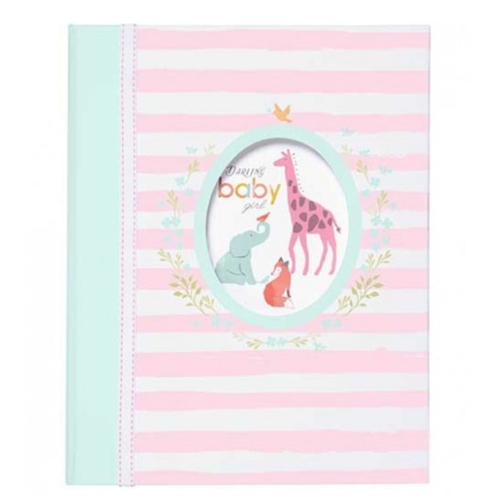 CR Gibson Darling Baby Girl Loose Leaf Memory Book