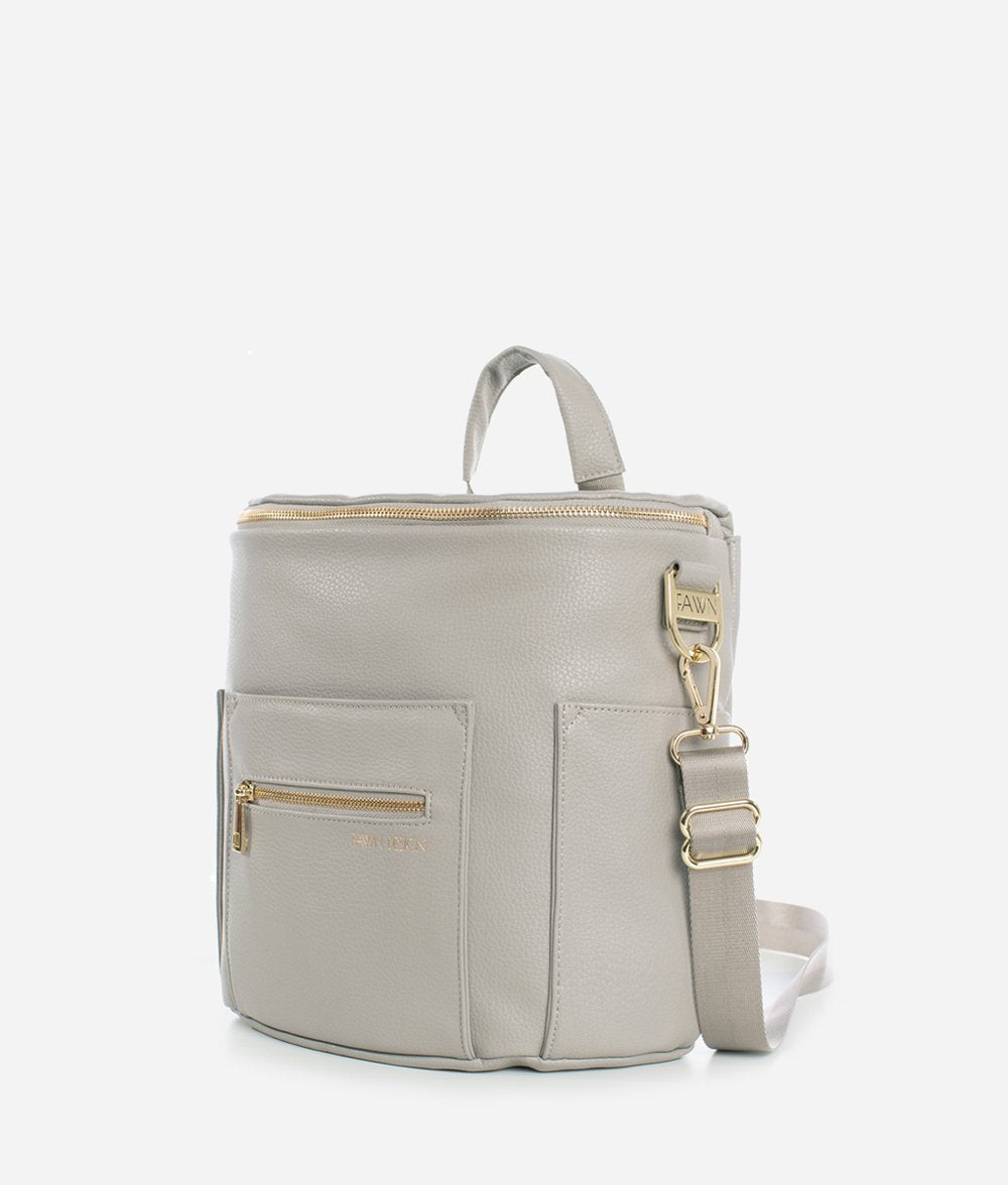 Fawn Diaper Bag, Mini, Gray