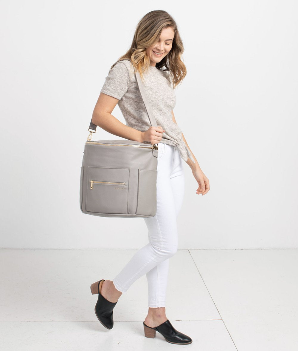 Fawn Diaper Bag, Gray