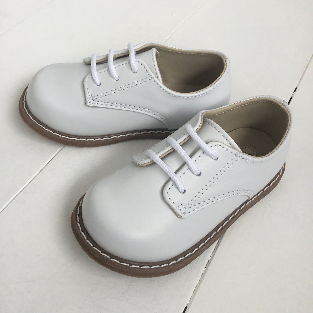 Trimfoot drew Wht Leather Lace Up Oxford