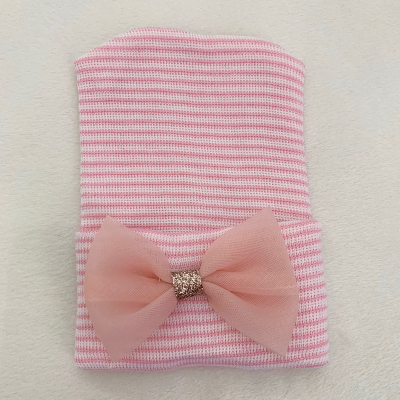 Cradle Cuties Hat, Pink Bow
