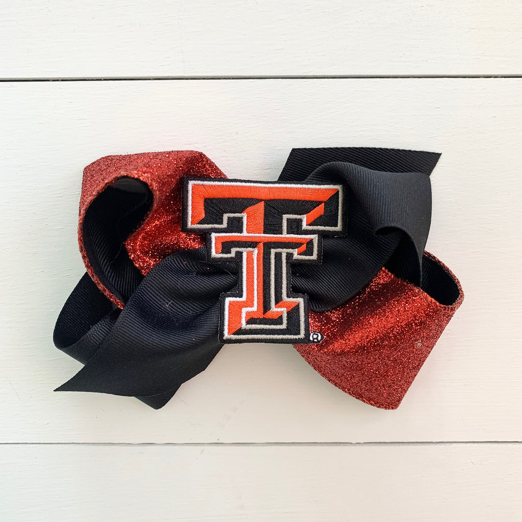 Texas Tech King Glitter Bow