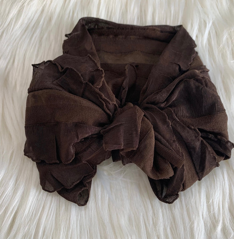 Ruffle Headwrap Chocolate