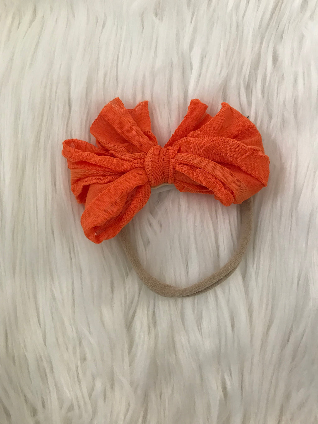 Mini Messy Headband Orange