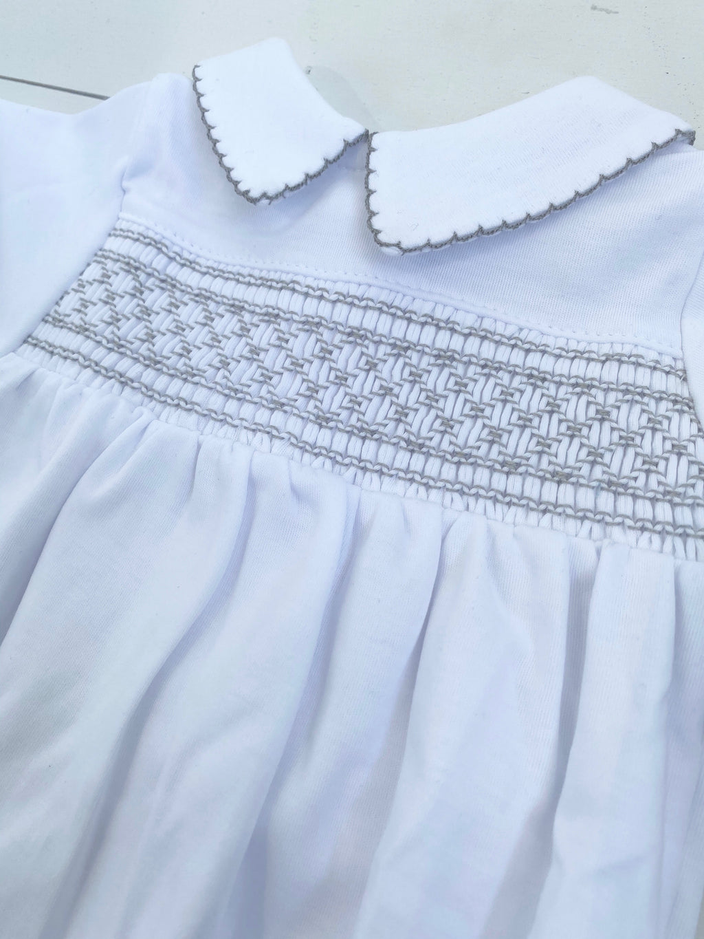 Magnolia Baby Smocked Collared Gown