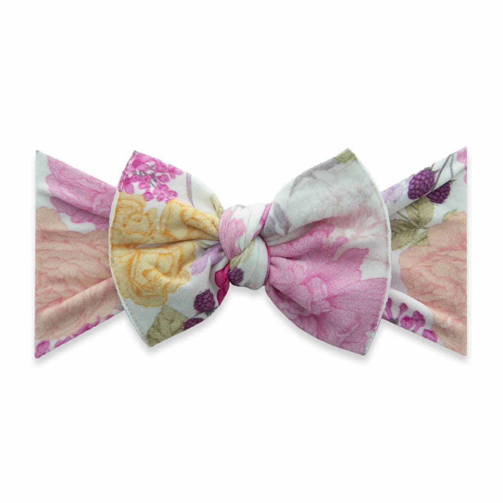 Baby Bling Printed Knot Headband Raspberry Rose