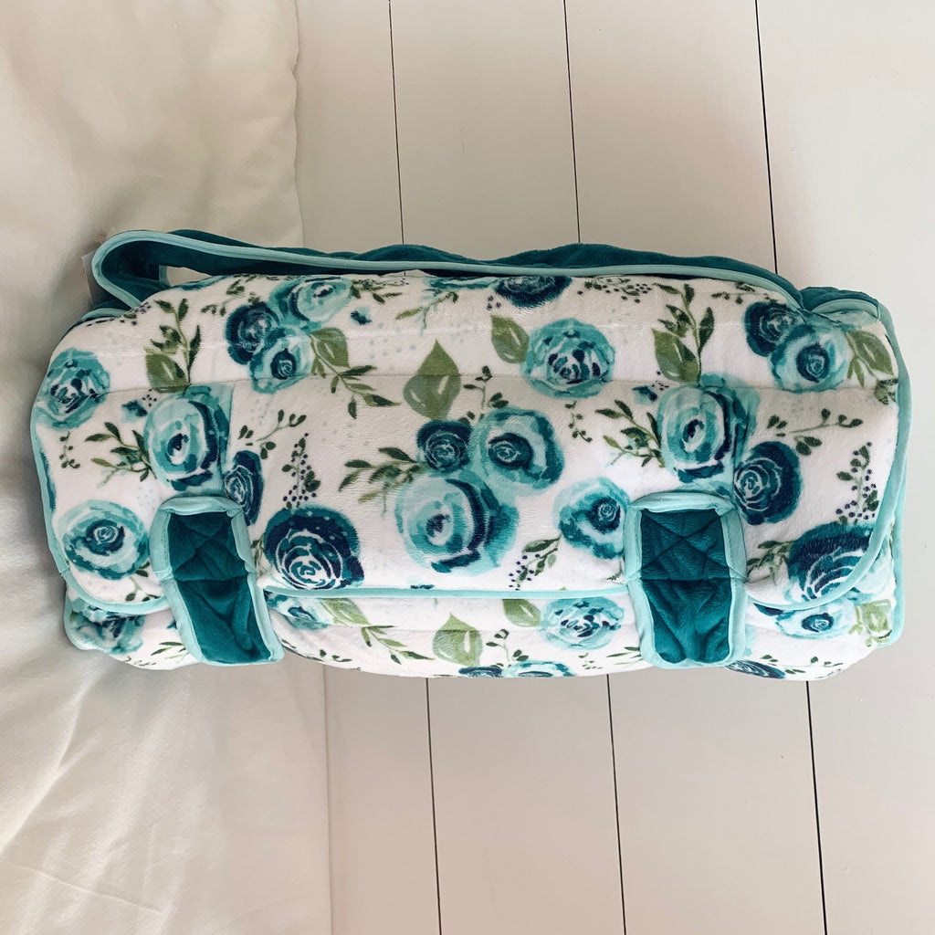 Ozark Mountain Rosie Teal Nap Mat