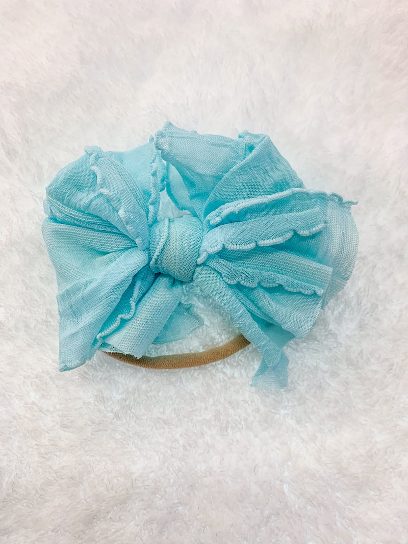 Mini Messy Headband Aqua