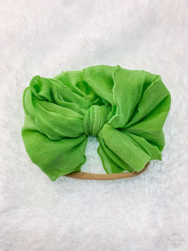 Mini Messy Headband Lime