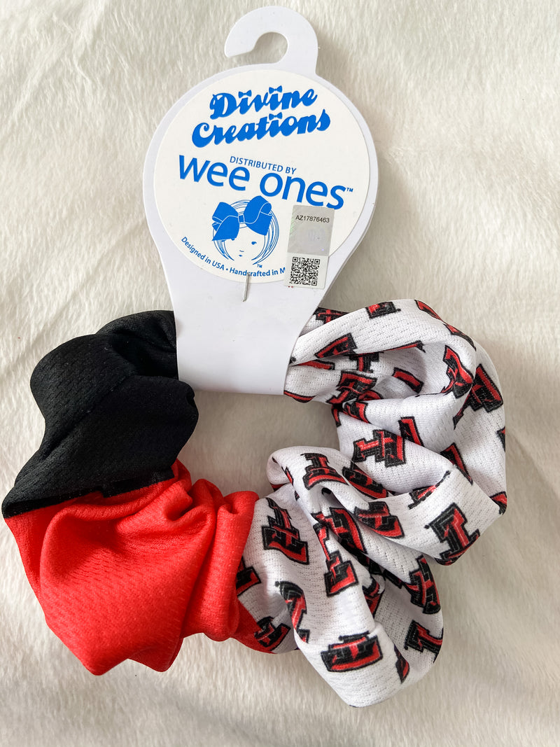 Texas Tech Quad Print Scrunchie