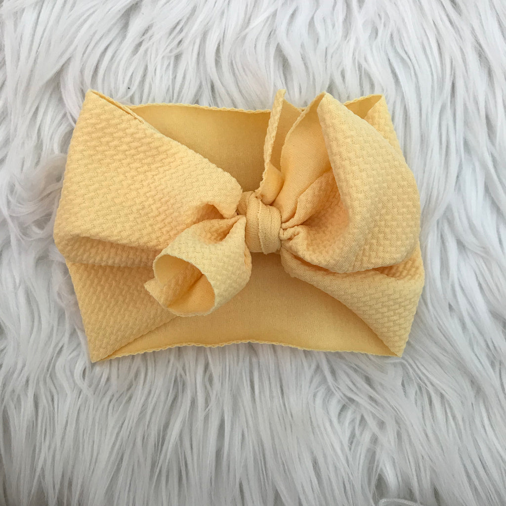 Waffle Knit Headwrap Yellow Light