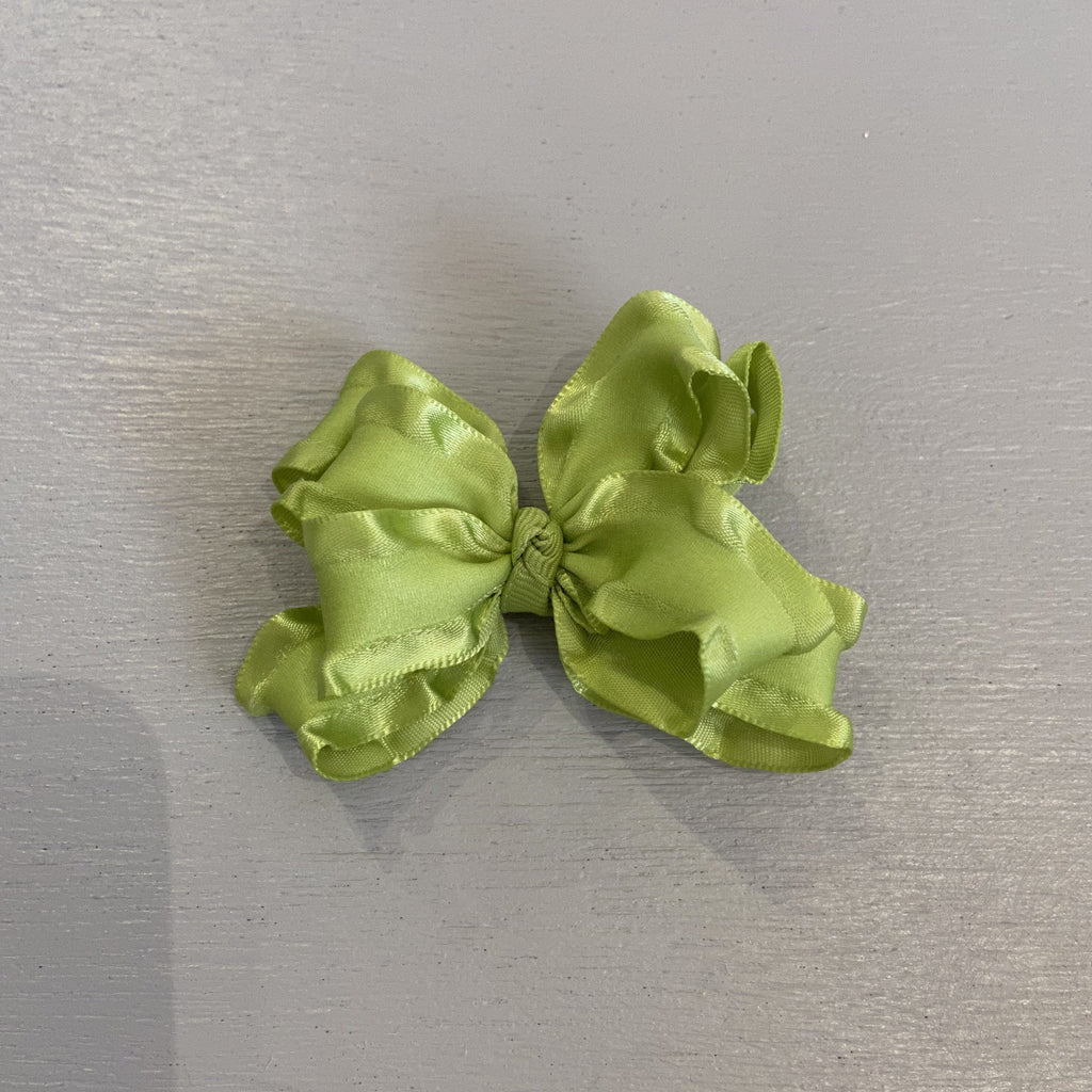 Double Ruffle Bow, Small, Citrus