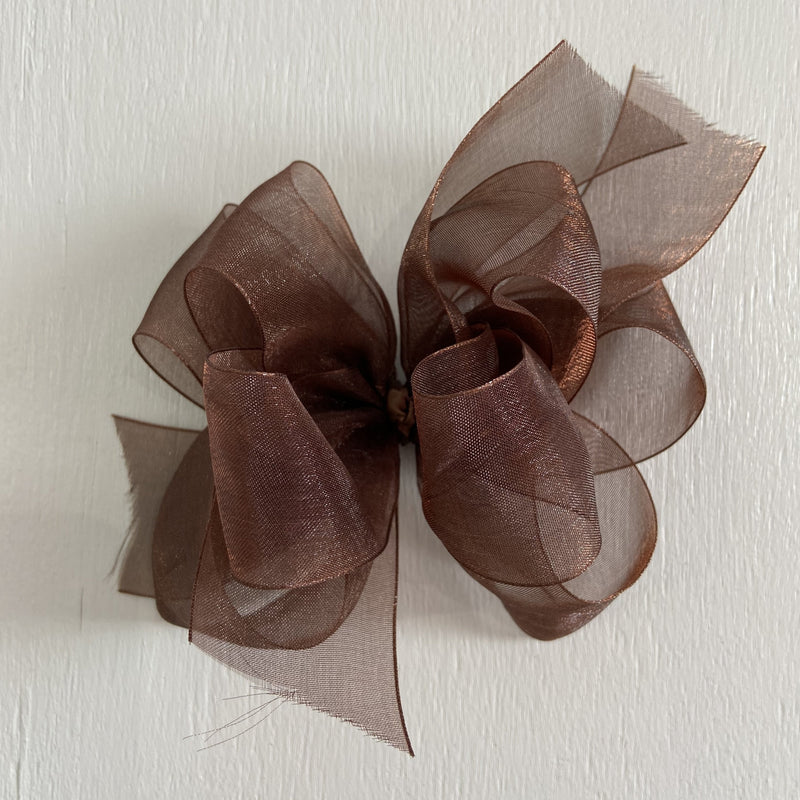 Sheer Bow, Large, Brown