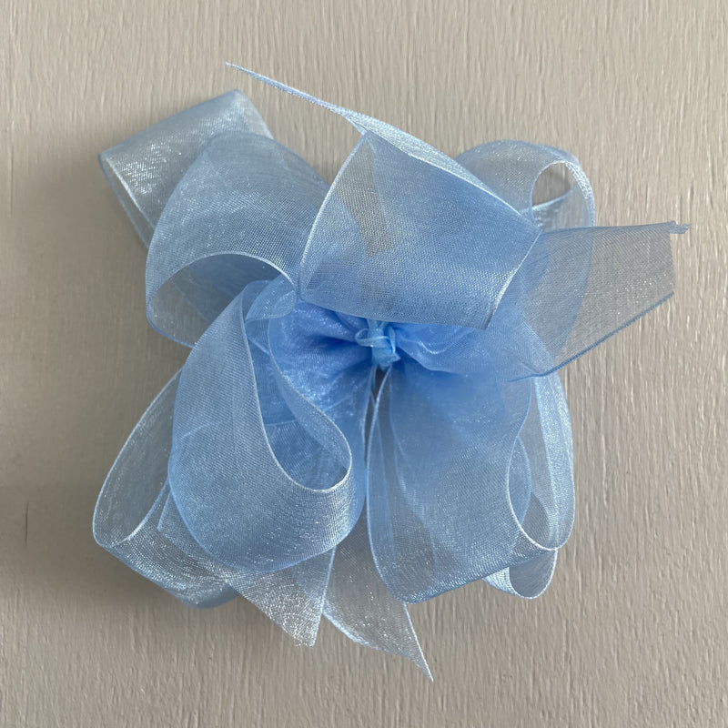 Sheer Bow, Large, Light Blue