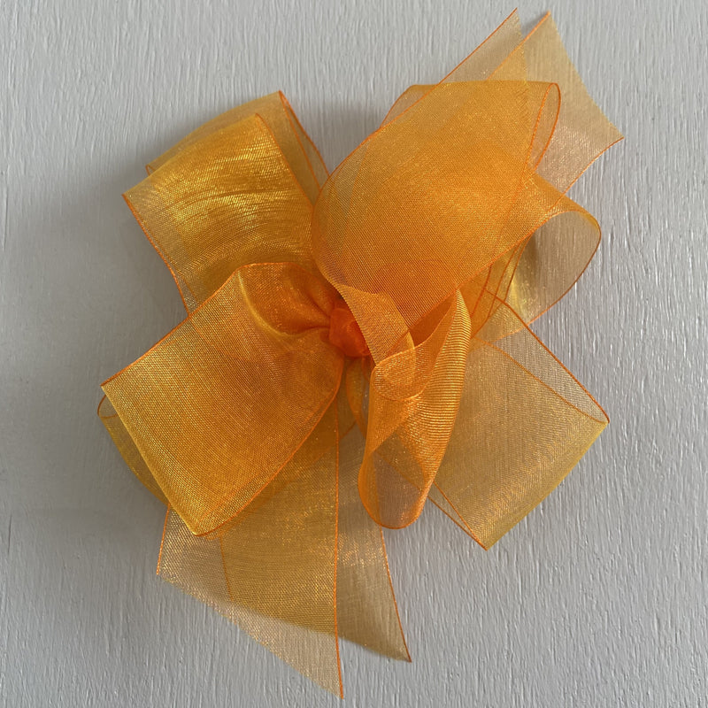 Sheer Bow, Large, Orange