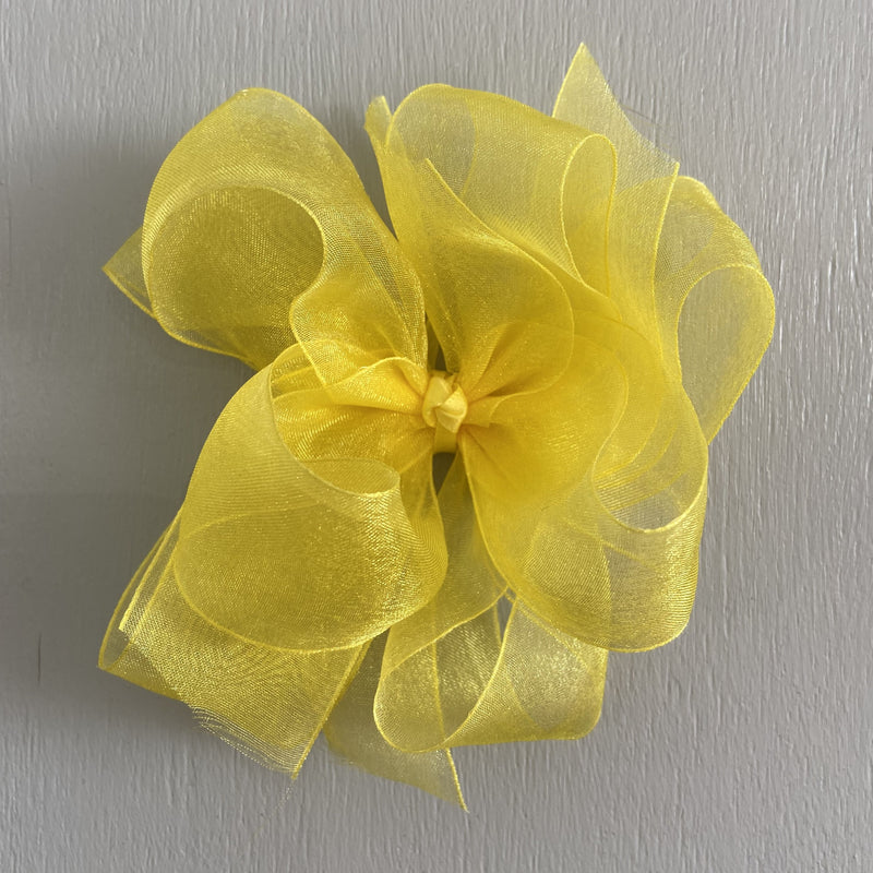 Sheer Bow, Large, Yellow