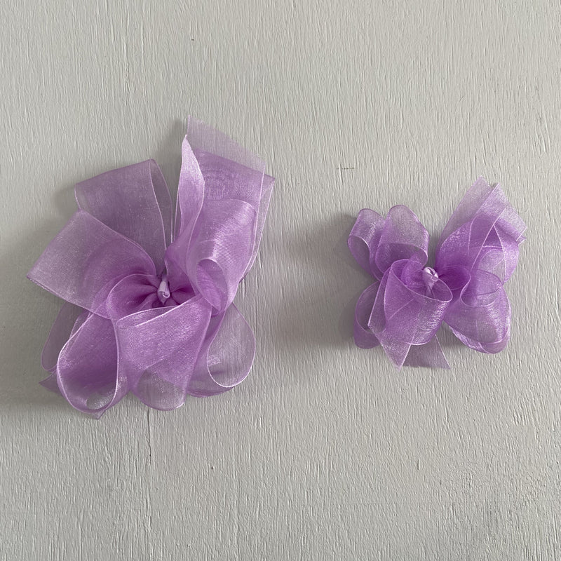 Sheer Bow, Small, Lavender