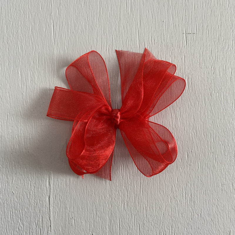 Sheer Bow, Small, Red
