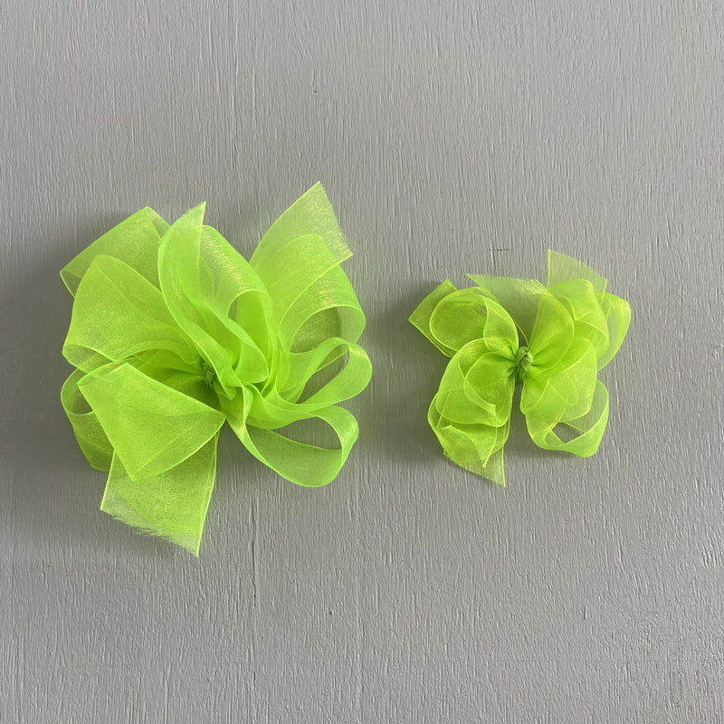 Sheer Bow, Small , Citrus