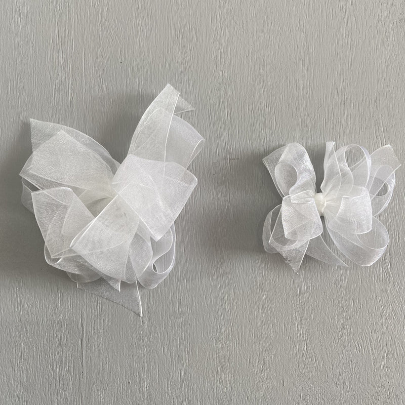Sheer bow, Small , White
