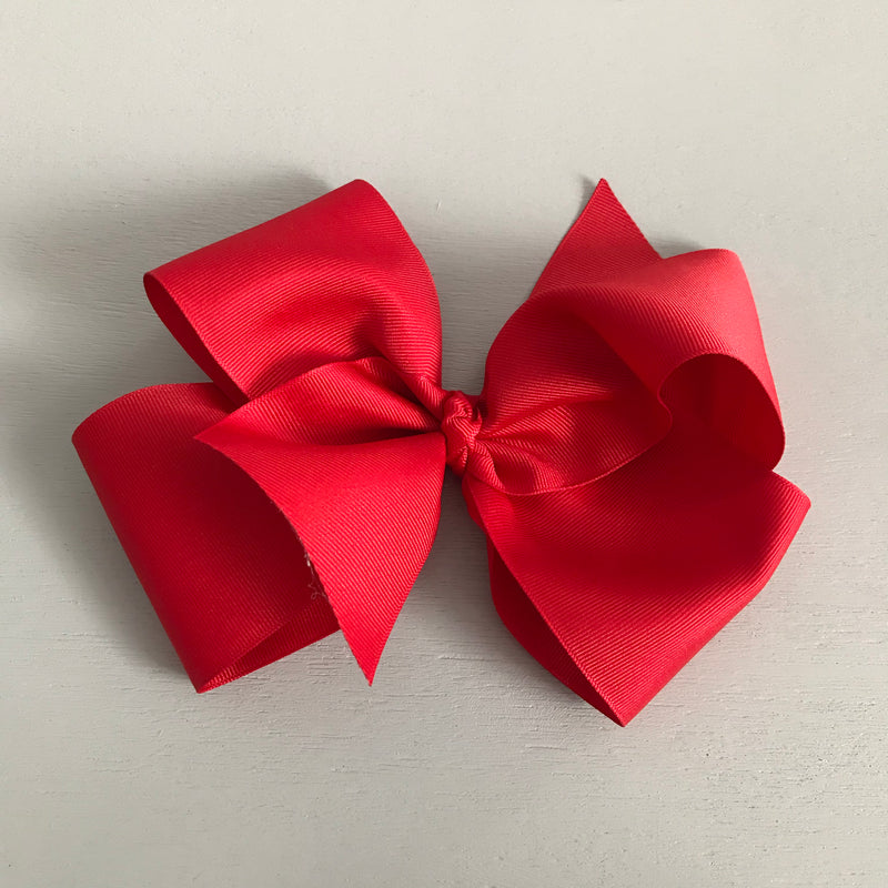 Single Grosgrain Bow, Red