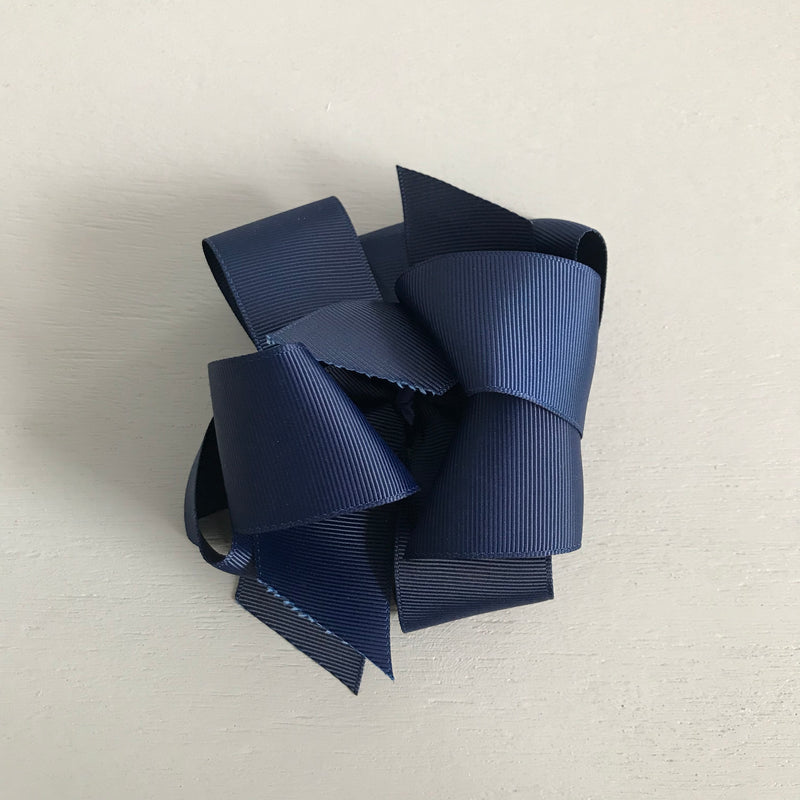 Grosgrain Bow, Large, Navy