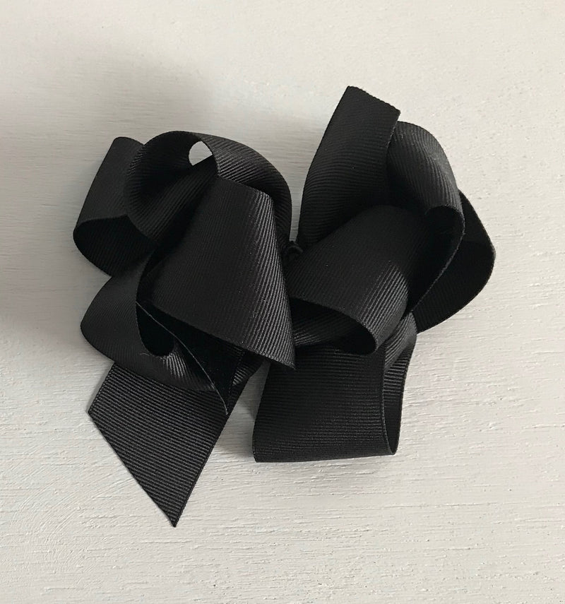 Grosgrain Bow, Large, Black