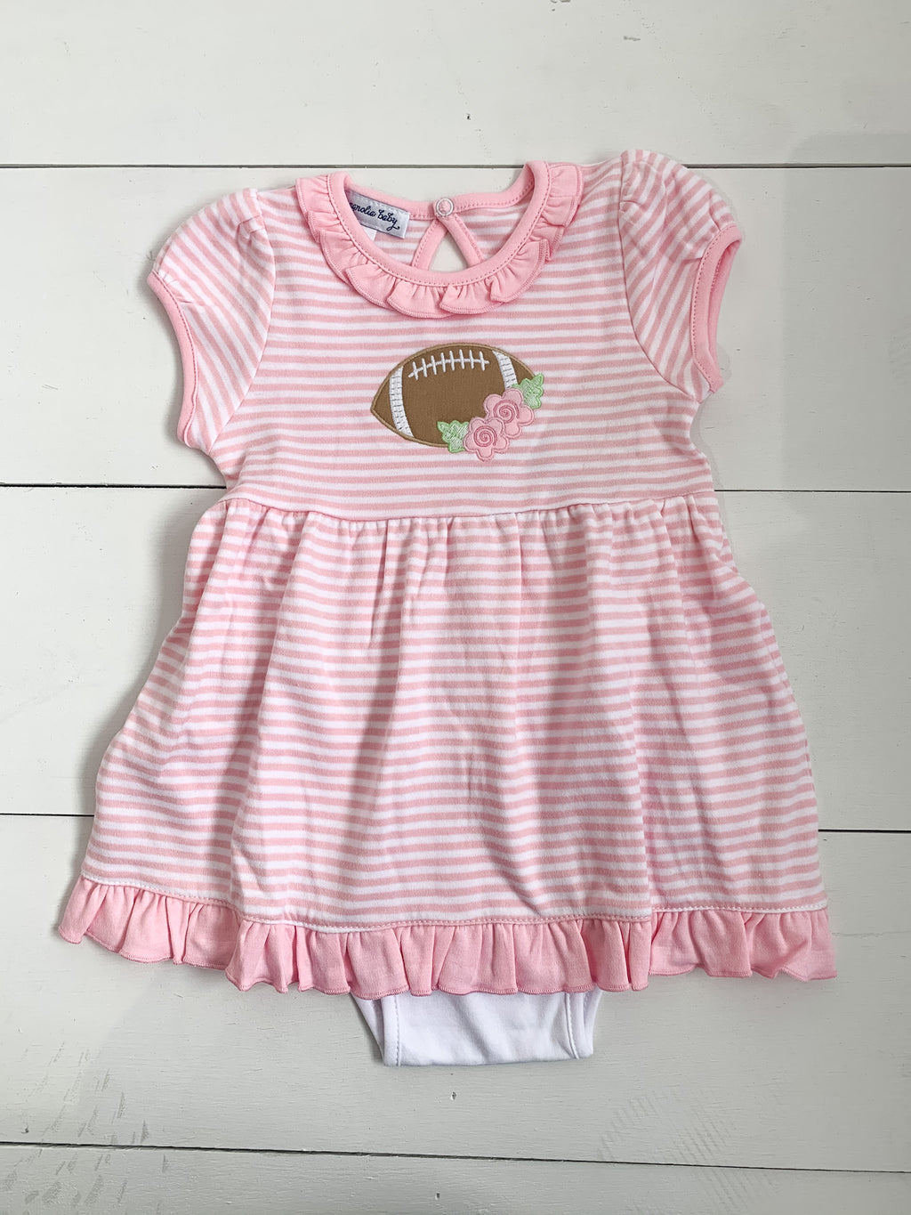 Magnolia Baby Football Fan Applique Dress Set
