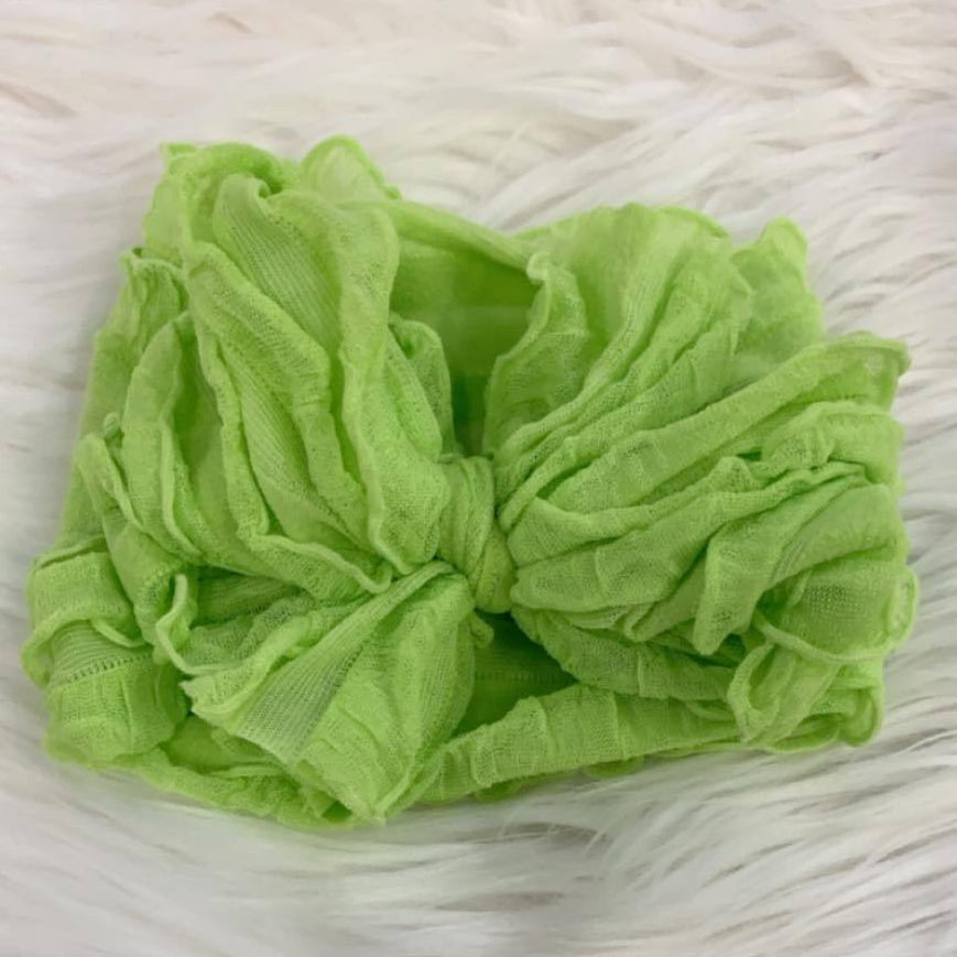 Pre/NB Ruffle Headwrap Lemon Lime