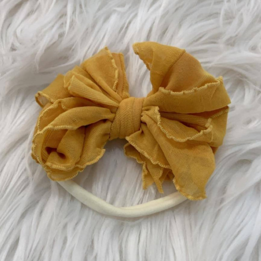 Mini Messy Headband Mustard