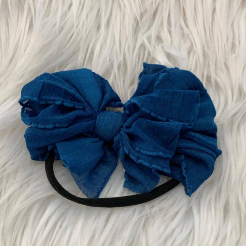 Mini Messy Headband Peacock