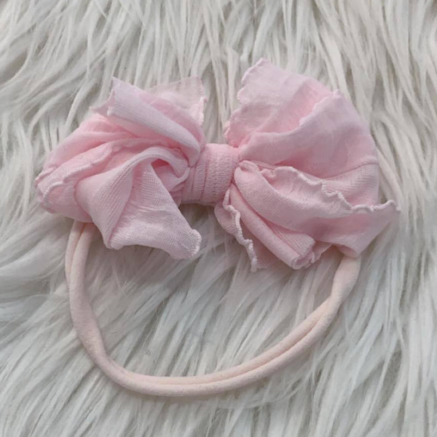 Mini Messy Headband Perfect Pink