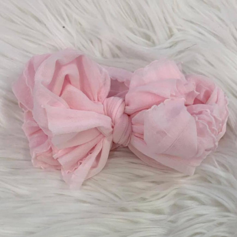 Pre/NB Ruffle Headwrap Perfect Pink