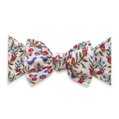 Baby Bling Printed Knot Headband Bluebird
