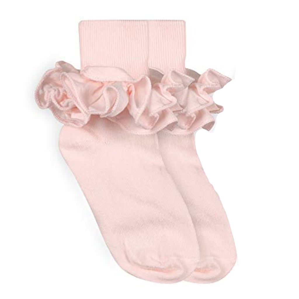 Jefferies Pastel Pink Ruffle Socks