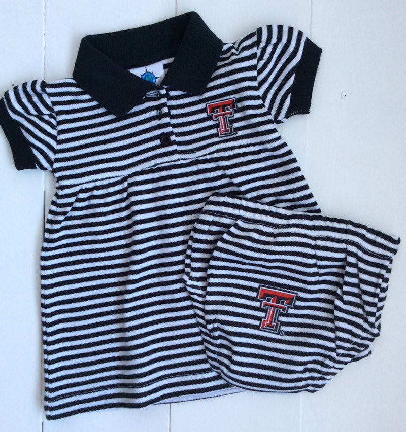 Creative Knitwear Texas Tech Striped Game Day Dress/Bloomers