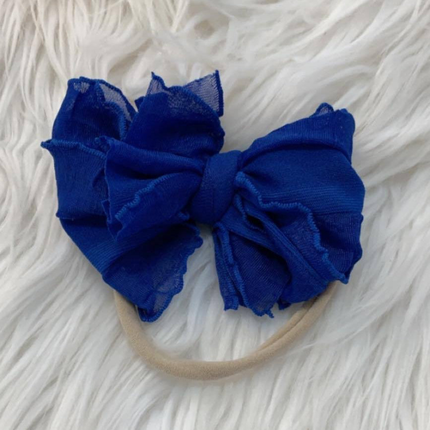 Mini Messy Headband Royal