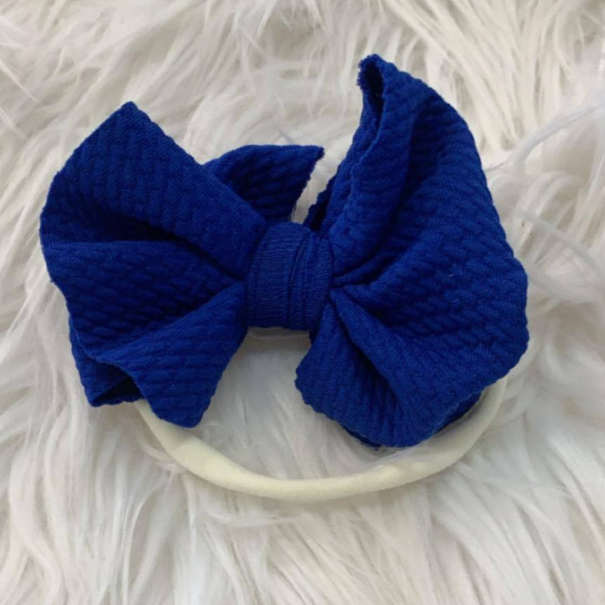 Waffle Knit Mini Headband Royal