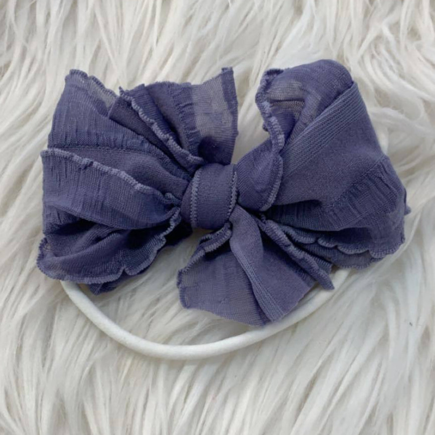 Mini Messy Headband Steel Lavendar