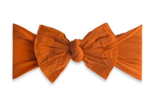 Baby Bling Solid Knot Headband Pumpkin